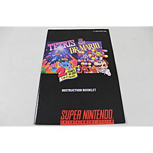 Manual - Tetris And Dr. Mario - Snes Super Nintendo