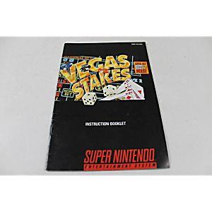 Manual - Vegas Stakes - Snes Super Nintendo