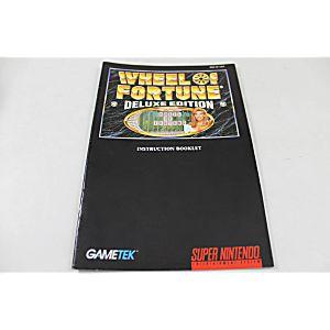 Manual - Wheel Of Fortune Deluxe - Snes Super Nintendo