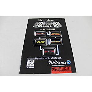 Manual - William's Arcade Greatest Hits - Snes