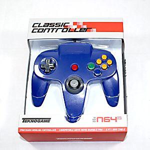 NEW Nintendo 64 N64 Blue Controller