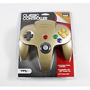 NEW Nintendo 64 N64 Gold Controller