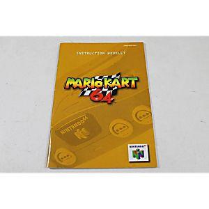 MANUAL - MARIO KART 64 - (YELLOW MANUAL)