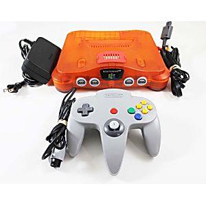 Nintendo 64 Fire Orange Console W/ Expansion Pak
