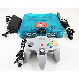 Nintendo 64 N64 Ice Blue Console W/ Expansion Pak