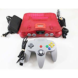 Nintendo 64 Watermelon Red Console W/ Expansion Pak