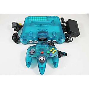 Ice Blue Nintendo 64 System