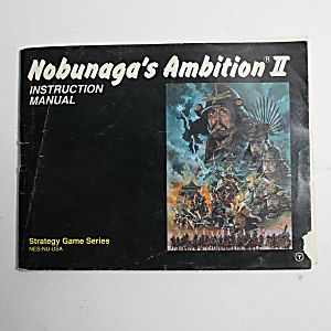 Manual - Nobunaga's Ambition 2 - NES Nintendo
