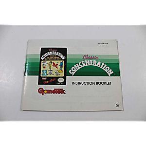Manual - Classic Concentration - Nes Nintendo Rare