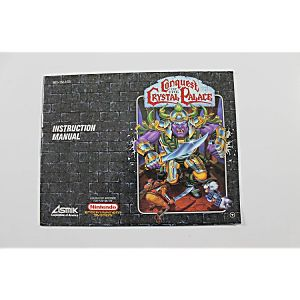 Manual - Conquest Of The Crystal Palace - Nes Nintendo