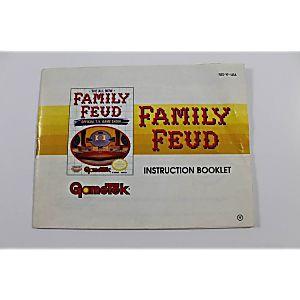 Manual - Family Feud - Very Rare Nes Nintendo