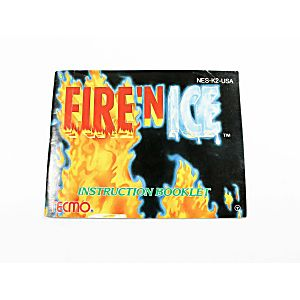 Manual - Fire 'N Ice - Very Rare Nes Nintendo
