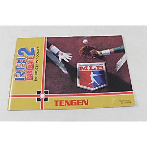 MANUAL - R.B.I. BASEBALL 2 II  RBI Tengen NES Nintendo