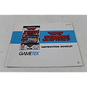 MANUAL - SUPER JEOPARDY! -Fun NES Nintendo