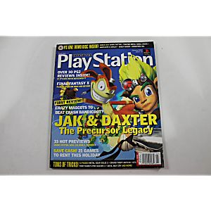 Official Playstation Magazine January 2002 Issue 52 Jak & Daxter The Precursor Legacy
