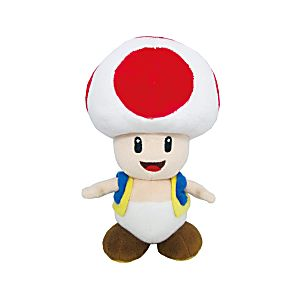 "6"" Plush Toad (Super Mario)"