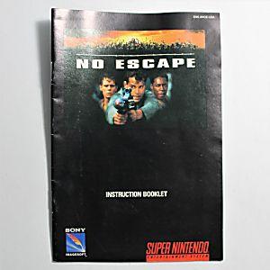 Manual - No Escape - Snes Super Nintendo