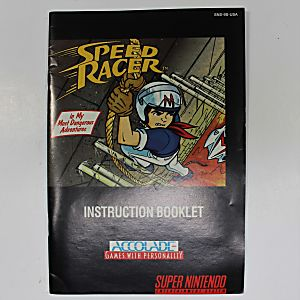 Manual - Speed Racer - Fun Snes Super Nintendo