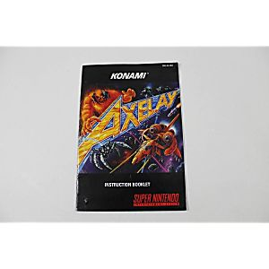 Manual - Axelay - Fun Snes Super Nintendo