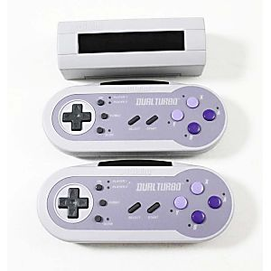 SNES Super Nintendo Acclaim Dual Turbo Wireless Controllers w/ Receiver