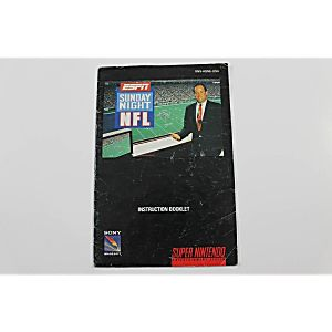 Manual - Espn Sunday Night Nfl - Snes Super Nintendo