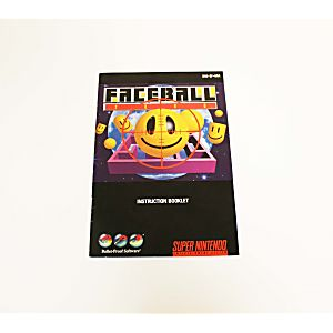 Manual - Faceball 2000 - Snes Super Nintendo