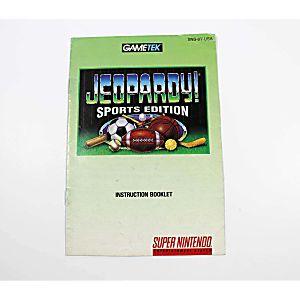 Manual - Jeopardy Sports Edition - Snes Super Nintendo