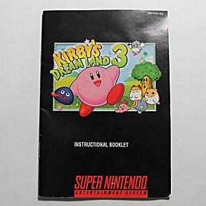 Manual - Kirby's Dream Land 3 - Rare Snes Super Nintendo