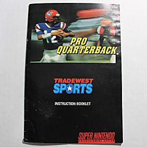 Manual - Pro Quarterback - Snes Super Nintendo