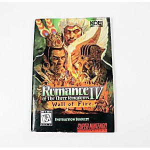 Manual - Romance Of The Three Kingdoms Iv - Snes Nintendo