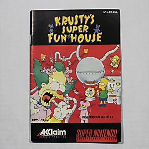 Manual - Simpsons Krusty's Super Funhouse - Snes Nintendo