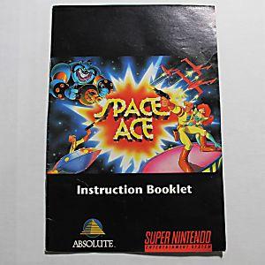 Manual - Space Ace - Snes Super Nintendo