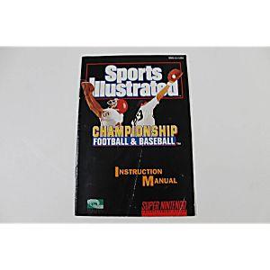 Manual - Sports Illustrated Championship Football/Baseball Snes