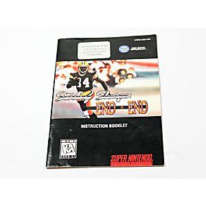 Manual - Sterling Sharpe's End 2 End - Snes Super Nintendo