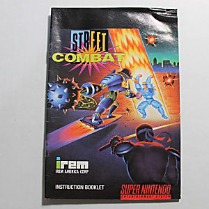 Manual - Street Combat - Snes Super Nintendo
