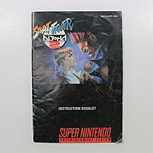 Manual - Street Fighter Alpha 2 - Snes Super Nintendo