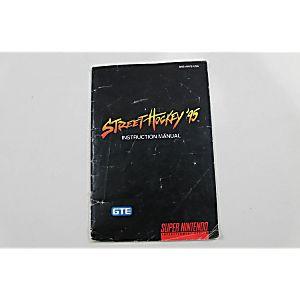 Manual - Street Hockey 95 - Snes Super Nintendo