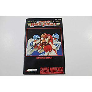 Manual - Super High Impact - Snes Super Nintendo