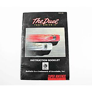 Manual - The Duel Test Drive II 2 - Snes Super Nintendo