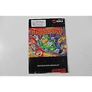 Manual - Troddlers - Snes Super Nintendo