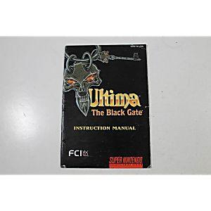 Manual - Ultima Vii 7 The Black Gate - Snes Super Nintendo