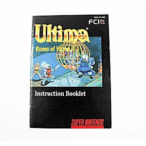 Manual - Ultima Runes Of Virtue 2 - Snes Super Nintendo