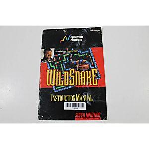 Manual - Wildsnake Wild Snake - Snes Super Nintendo