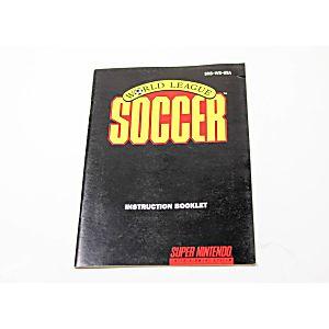 Manual - World League Soccer - Snes Super Nintendo