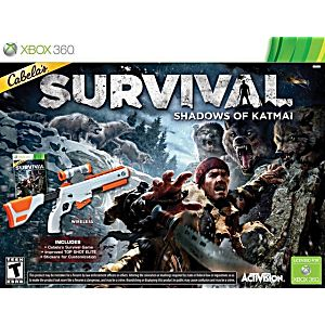 cabelas survival shadows of katmai w gun xbox 360 game