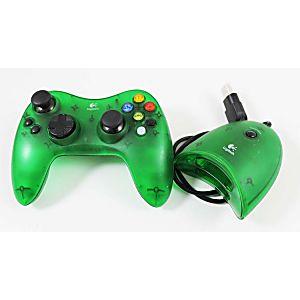 original xbox attack green logitech wireless controller with receiver