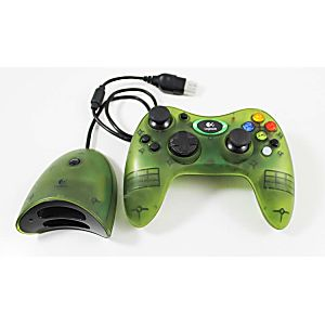 Xbox Original Green Logitech Wireless Controller