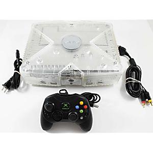 XBOX Limited Edition Dark Crystal Smoke Skeleton System w/ Black Controller